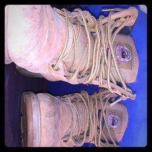 Used work boots not steel toe waterproof